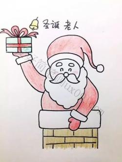 圣诞老人怎么画简笔画,最详细的步骤在这里