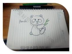 熊猫简笔画可爱