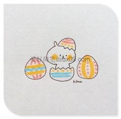 小兔子简笔画彩色可爱