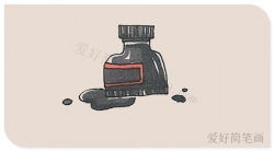 墨水瓶的简笔画怎么画