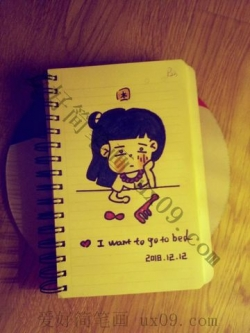 随笔画图片可爱的小女孩-韩式简笔画