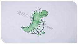 可爱的小恐龙简笔画画法教程