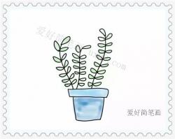 小清新绿植简笔画画法教程
