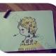 三幅可爱小女孩简笔画