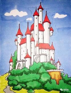 梦想中的城堡简笔画图片