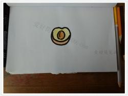 掰开的杏子的简笔画图片步骤
