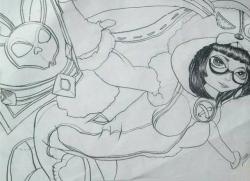王者荣耀魔法师安琪拉的简笔画