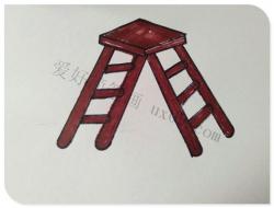 双面梯子简笔画画法教程