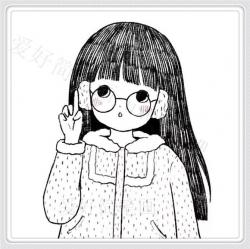 漂亮长头发小女孩简笔画