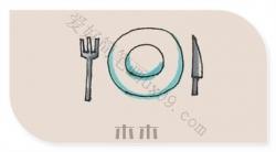 餐具怎么画,餐具简笔画彩色