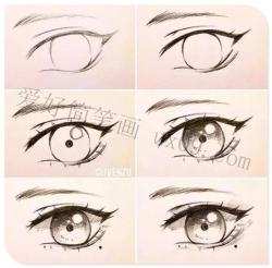 眼睛画法 漂亮的彩铅画眼睛图片