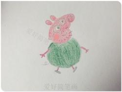 可爱的猪爸爸简笔画教程