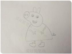 小猪佩奇简笔画详细步骤教程