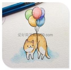 三幅关于猫咪的简笔画