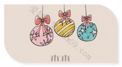 圣诞节小彩球简笔画教程步骤
