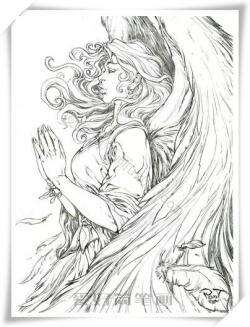 女神的翅膀简笔画漂亮