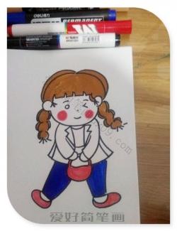 画小女孩简单又可爱