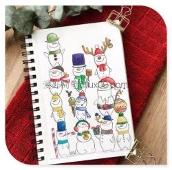 多种漂亮的雪人简笔画彩色