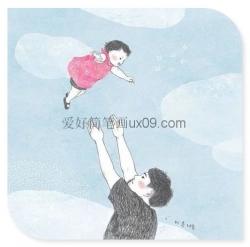 爸爸对女儿的爱简笔画
