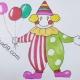 小丑简笔画带颜色教程