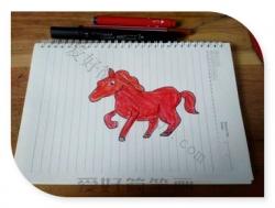 马的简笔画画法步骤图