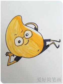 可爱卡通芒果的简笔画画法