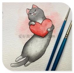 可爱小猫图片简笔画