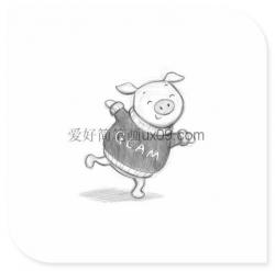 可爱的小猪铅笔画