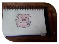 小猪怎么画一步一步教