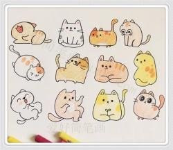 呆萌q版小动物简笔画 可爱