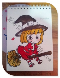 漂亮的小女孩简笔画