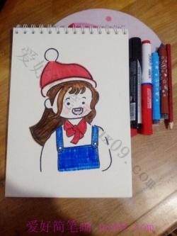 可爱的女孩简笔画教程步骤图解