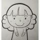 铅笔画可爱女孩图片作品