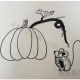南瓜与老鼠的简笔画画法