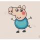 如何画小猪乔治简笔画