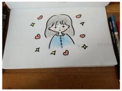 小女孩画法简笔画图片