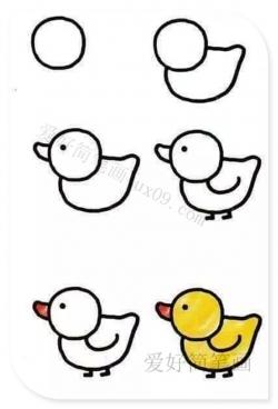 幼儿画小鸭子简单画法