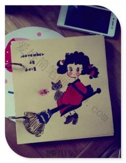 萌萌的小女生简笔画