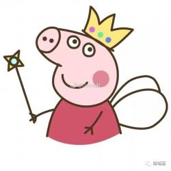 超萌的小猪佩奇简笔画