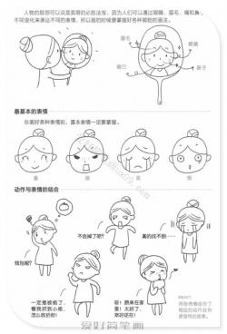 如何画好表情-入门级人物表情简笔画教程
