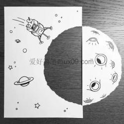 3D创意简笔画,一张A4纸做出的无限创意简笔画