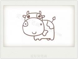 奶牛图片卡通简笔画画法教程