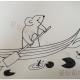 划船的小老鼠简笔画画法