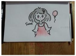 简单呆萌的女生简笔画画法