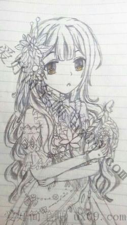 女生图片可爱手绘简笔画