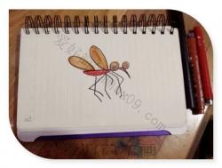 蚊子简笔画图片颜色