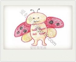 七星瓢虫简笔画彩色 可爱