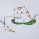 小猫钓鱼图片简笔画