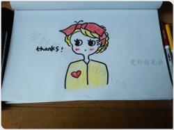 简单的女孩简笔画画法