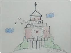 简单的伊丽莎白塔简笔画画法